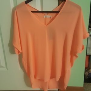 NWT short-sleeve light orange blouse